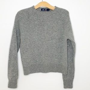 J. Crew lambswool sweater grey pullover